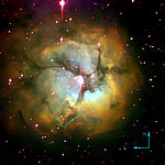 Trifid Nebula (ground-based image)