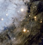 Hubble peers deeply into the Eagle Nebula