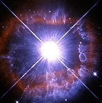 Snapshot of a shedding star