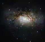 A galactic mega-merger
