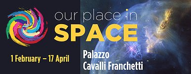"Banner for the exhibition ""Our Place in Space"""