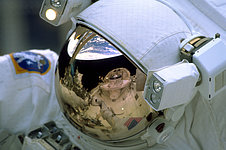 SM3A: The Earth Reflected in Astronauts Visor