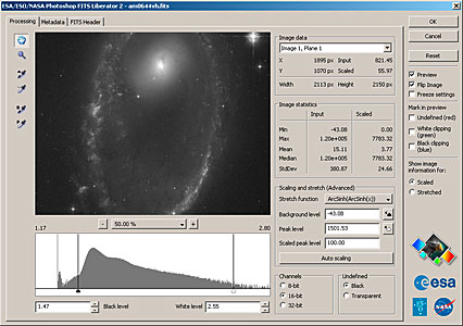 ESA/ESO/NASA Photoshop FITS Liberator v. 2.2 released