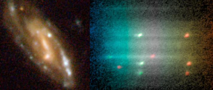 Composite of the galaxy image (left) and the spectrum (right)