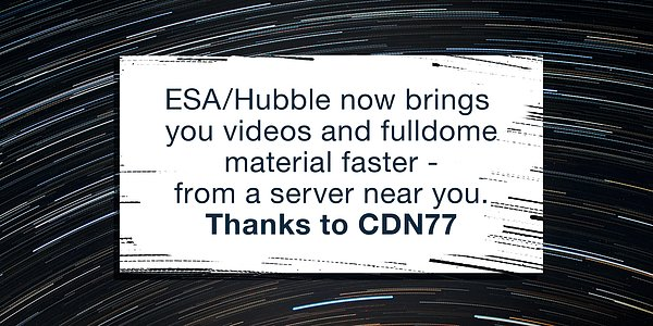 Graphic for ESA/Hubble announcement on delivering content faster