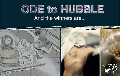 Screenshots from the Ode to Hubble winning videos