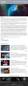 Screenshot of the June issue of ESA/Hubble Science Newsletter