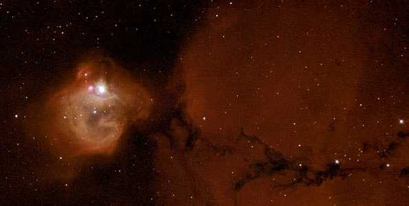 N83B - massive infant stars rock their cradle