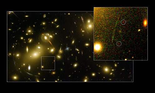 Hubble and Keck discover galaxy building block