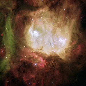 Nebula NGC 2080, nicknamed the 'Ghost Head Nebula'