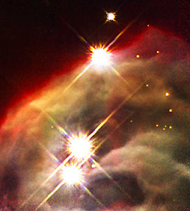 NICMOS uncovers dust layers to show inner region of dusty nebula (NICMOS image)