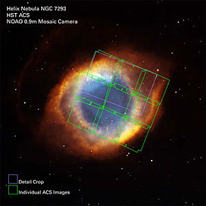 Helix Nebula ACS Exposures on Full Image