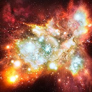 Mega starbirth cluster is biggest, brightest and hottest ever seen (artist's impression)