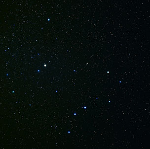 Constellations Ursa Major and Ursa Minor (ground-based image)