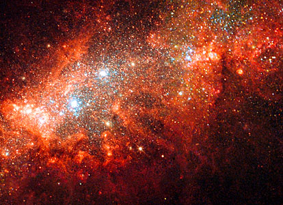 Supernova blast bonanza in nearby galaxy