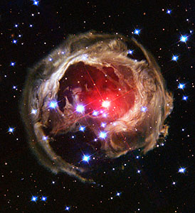 V838 Monocerotis revisited: Space phenomenon imitates art