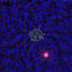 Hubble infrared view of extrasolar planet candidate
