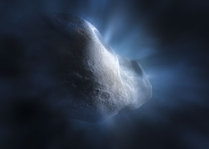 Comet Tempel 1 close-up [artist's impression]