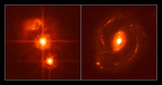 No-host quasar compared with a normal quasar