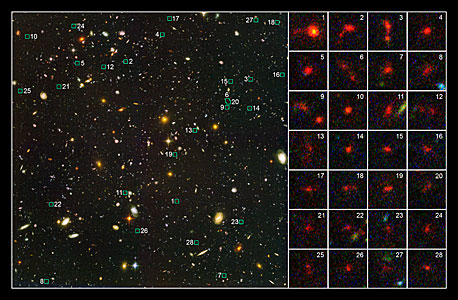 Probing the distant Universe for young galaxies