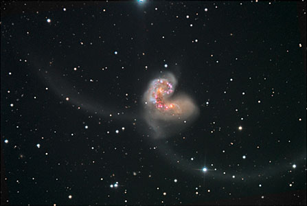 Wide view of the Antennae galaxies [ground-based]