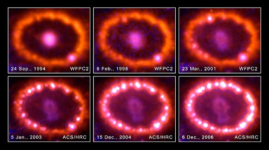 Hubble Images Chronicle the Inner Ring's Light Show