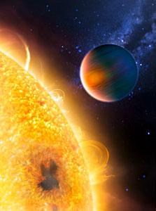 Artist's impression of the extrasolar planet HD 189733b