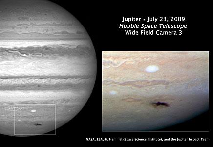 Hubble views new dark spot on Jupiter