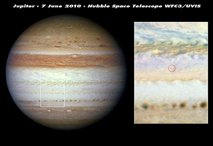 Mysterious flash on Jupiter left no debris cloud