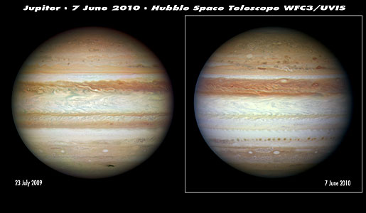 Hubble sees Jupiter change its stripes