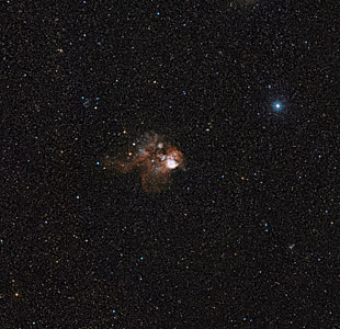 Wide-field view of NGC 2467 (ground-based image)