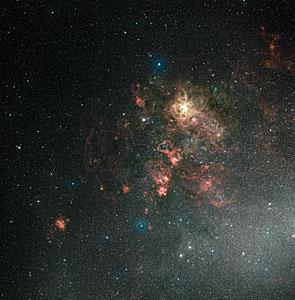 Wide-field view of the Tarantula Nebula and its surroundings (ground-based image)