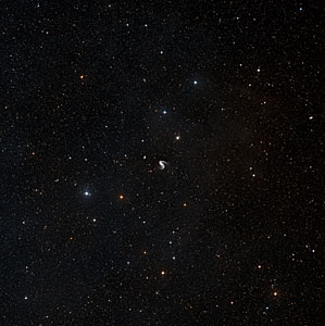 Wide-field image of the area around the Meathook Galaxy (ground-based image)