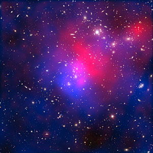 X-rays, dark matter and galaxies in cluster Abell 2744