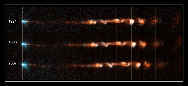 Close-up views of stellar jet HH 34