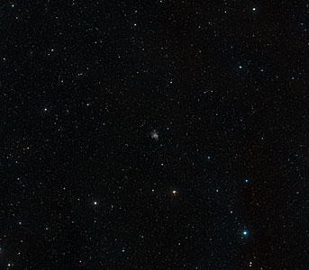 Wide-field image of irregular galaxy Holmberg II (ground-based image)