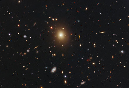 Monster galaxy lacks a bright core