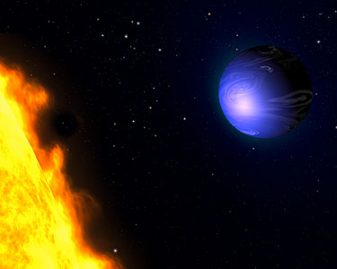 Exotic blue planet HD 189733b (artist's impression)