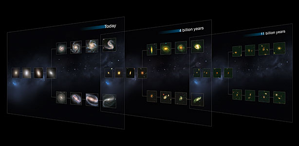 CANDELS galaxies reveal the Hubble Sequence throughout the Universe's history