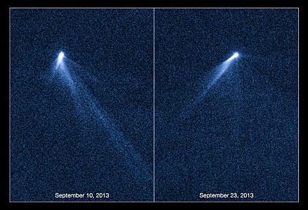 Hubble views extraordinary multi-tailed asteroid P/2013 P5