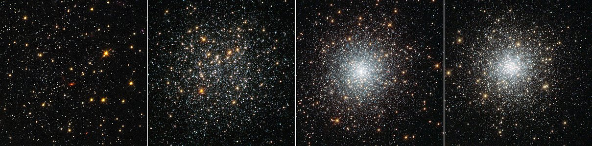 Four globular clusters in Fornax