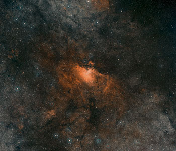 Digitized Sky Survey Image of the Eagle Nebula