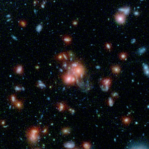 Image of the galaxy cluster SpARCS1049