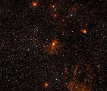 Wide-field image of the Bubble Nebula (ground-based image)