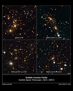 Galaxy clusters targeted by Hubble's Frontier Fields