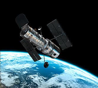 Hubble in orbit