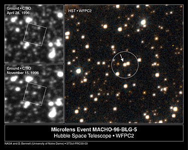 Lone Black Hole Passes in Front of Star (Hubble and Ground-Based Views)