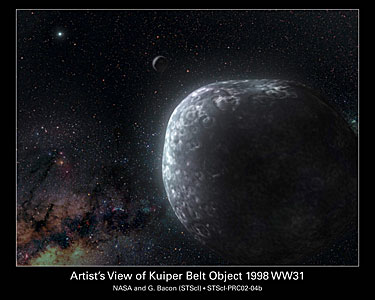 Artist's View of Kuiper Belt Object 1998 WW31