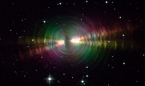 Rainbow Image of a Dusty Star