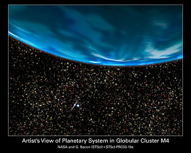 Ancient Planet in a Globular Cluster Core (artist's impression)